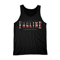 FOGLINE - FLAG LOGO - Premium Men's Tank Top - Black