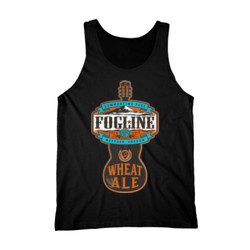 FOGLINE - WHEAT ALE - Premium Men's Tank Top - Black