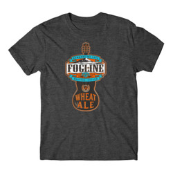 FOGLINE - WHEAT ALE - Premium Men's S/S Tee - Charcoal Heather