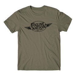 FOGLINE - WINGS - Premium Men's S/S Tee - Military Green