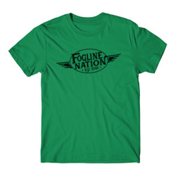 FOGLINE - WINGS - Premium Men's S/S Tee - Kelly Green