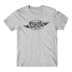 FOGLINE - WINGS - Premium Men's S/S Tee - Light Gray Heather
