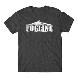 FOGLINE - MOUNTAINS - Premium Men's S/S Tee - Charcoal Heather