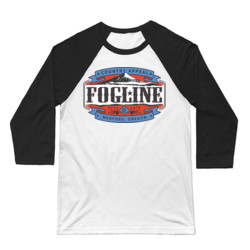 FOGLINE - LABEL - Premium Unisex 3/4 Sleeve Baseball Tee - White/Black
