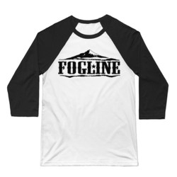 FOGLINE - MOUNTAINS - Premium Unisex Baseball Tee - White/Black